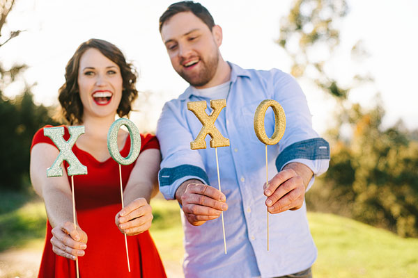DIY glitter wedding photo booth props