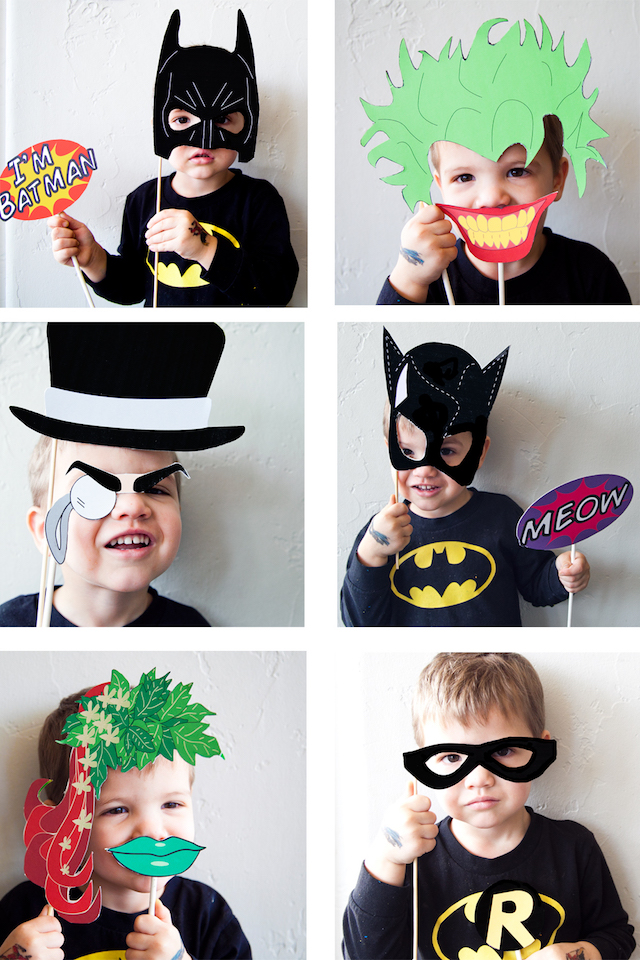 Batman photo booth props by Pretty Prudent