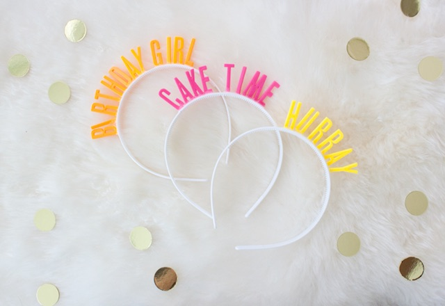 DIY birthday photo booth headbands