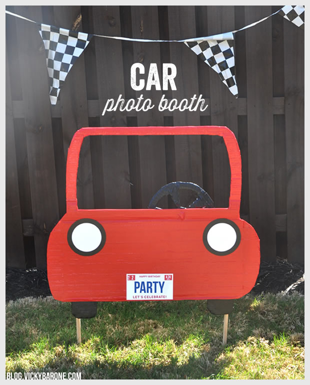 DIY car photo booth frame by Vicky Barone
