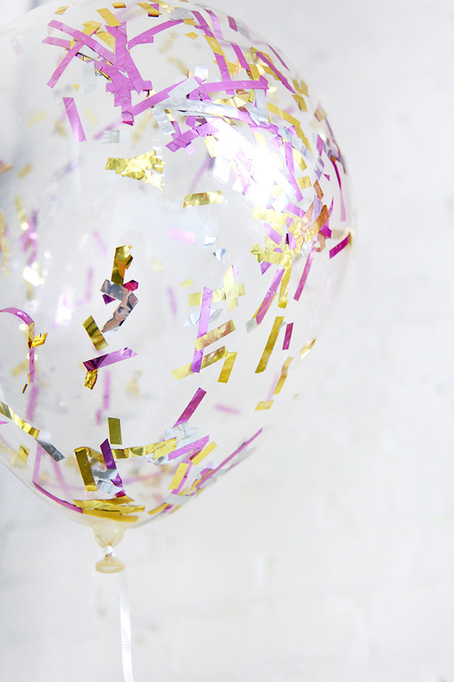 DIY confetti-filled balloons by I Spy DIY