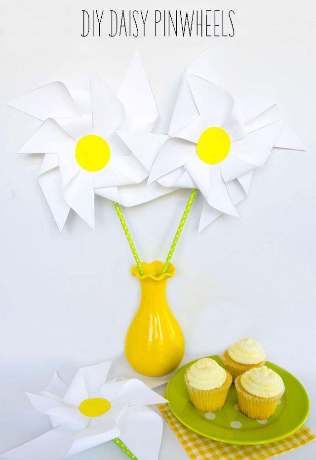 DIY daisy pinwheels by Love The Day