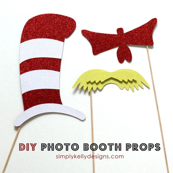 DIY Dr. Seuss photo booth props by Simple Kelly Designs