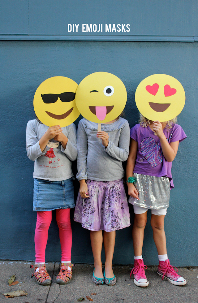 DIY emoji masks by Alice & Lois