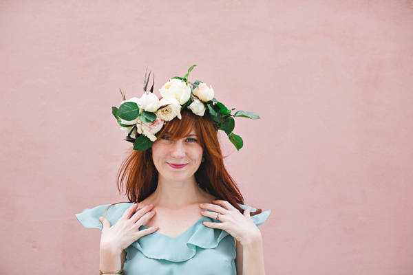 DIY floral crown by Ruffled