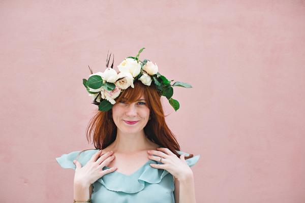 DIY floral crown by Ruffled