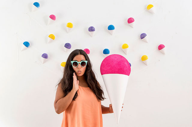 DIY giant snow cone prop by Brit + Co