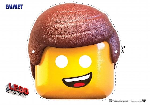 DIY The Lego Movie masks