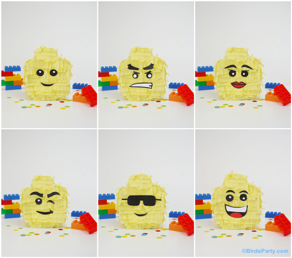 DIY Lego pinatas by Bird's Party