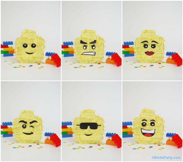 DIY Lego pinatas by Bird's Party