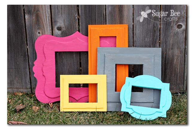 DIY photo booth frames by Sugar Bee Crafts