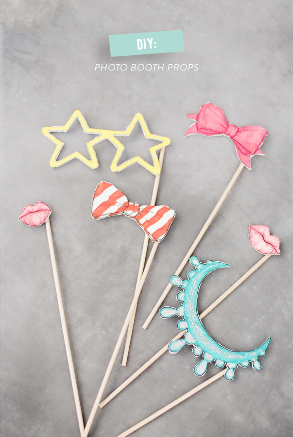 Printable photo booth props by Style Me Pretty