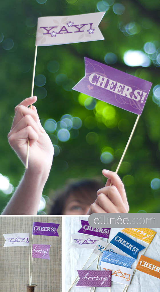 Photo booth flags by The Elli Blog