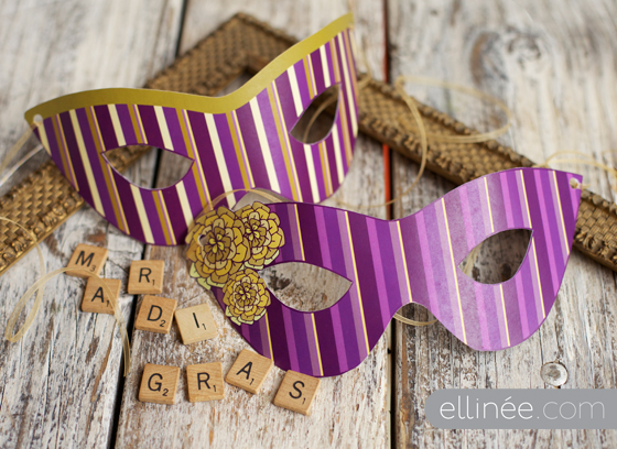 Mardi Gras masks by The Elli Blog