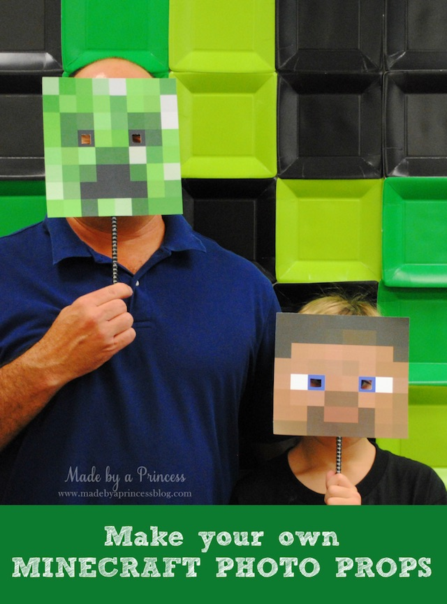 Minecraft photo booth props by Made by a Princess