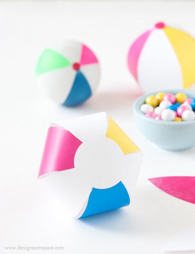 Mini printable beach balls by Design Eat Repeat