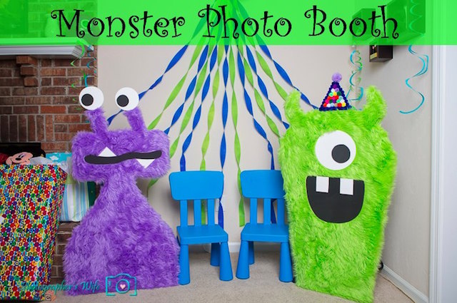 Monster life-sized photo booth props by The Photographer's Wife