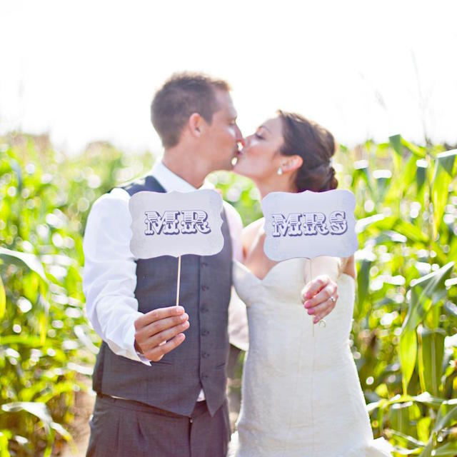 Mr and Mrs signs by Hip Hip Hooray