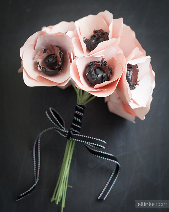 Paper anemone flowers by The Elli Blog