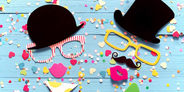 Printable photo booth props by Personal Creations