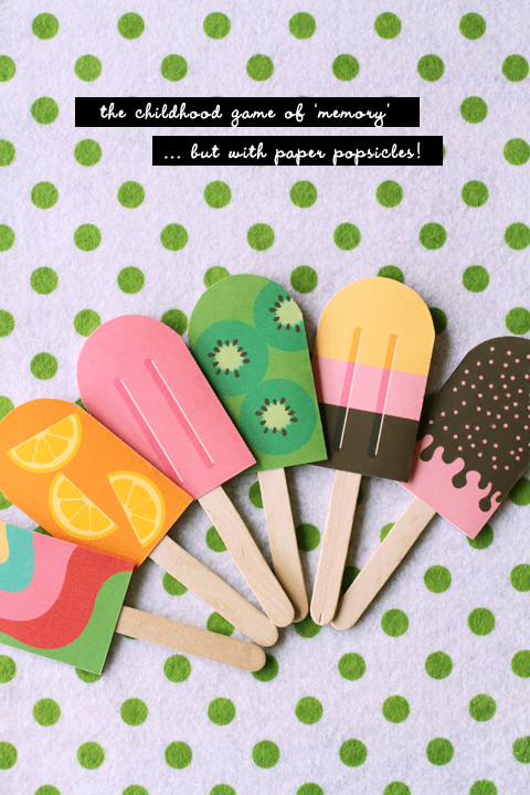 Printable popsicle photo booth props by Eat Drink Chic