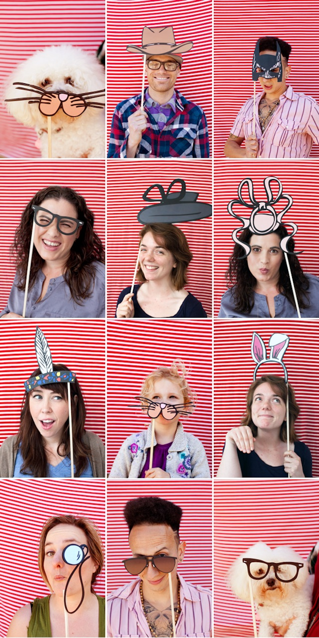 Printable photo booth props by Oh Happy Day