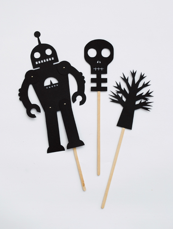 Shadow puppets printable photo booth props