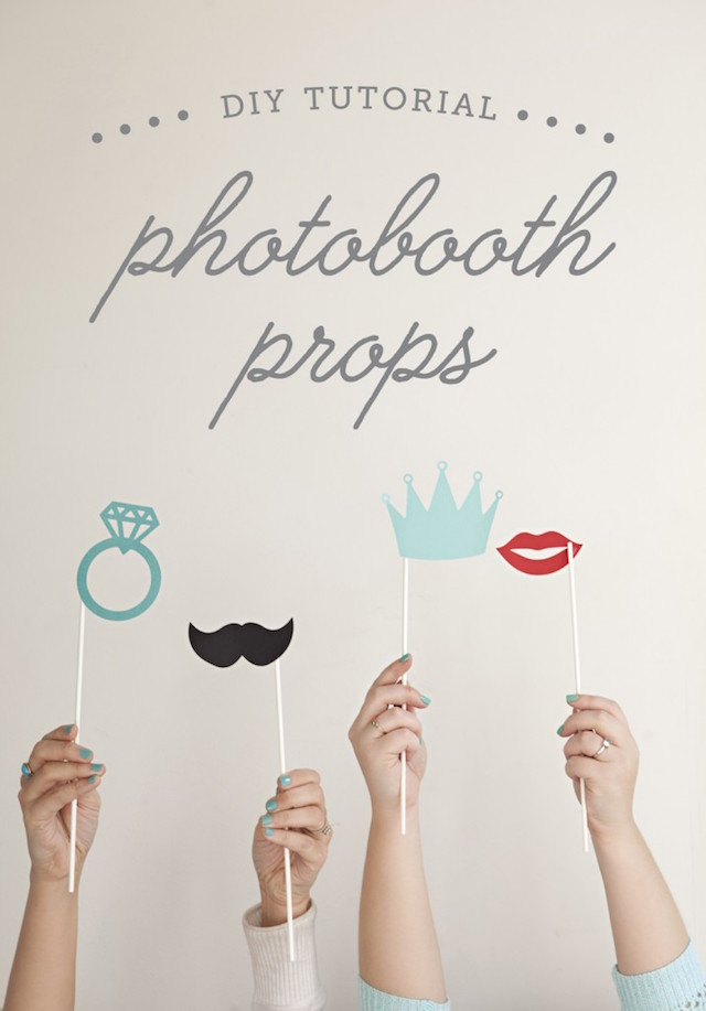 Printable photo booth props by The Budget Savvy Bride