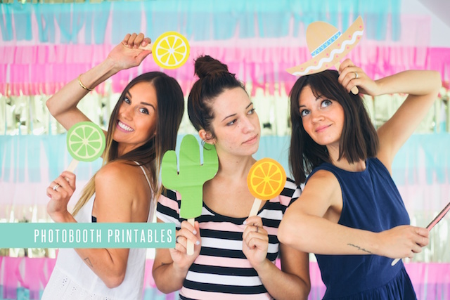 Printable photo booth props by Treasures & Travels