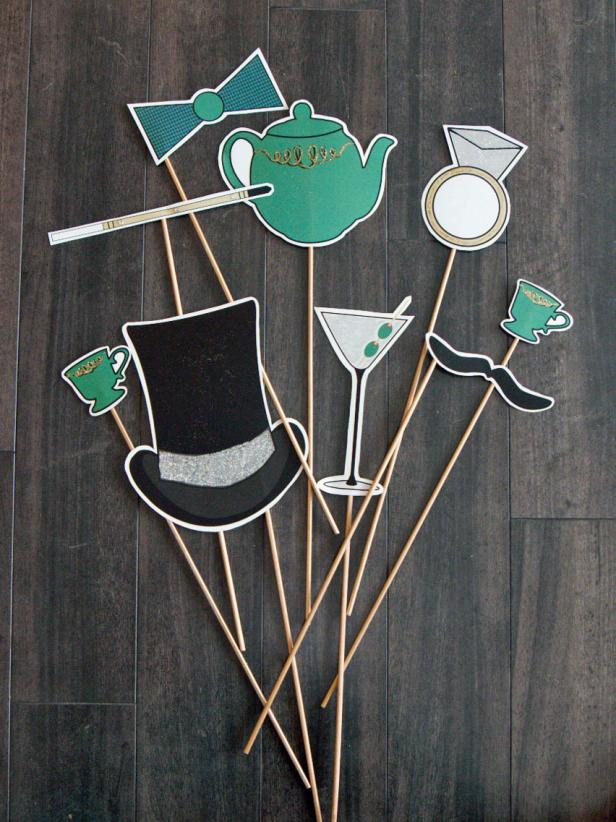 Vintage printable photo booth props