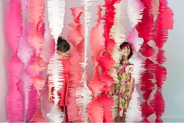 Big fringe garlands photography backdrop