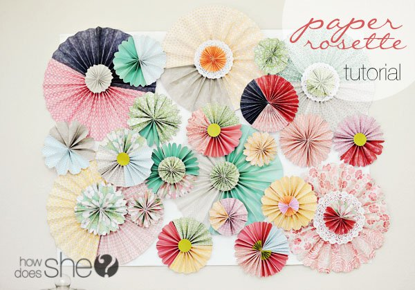 Chic paper rosette backdrop