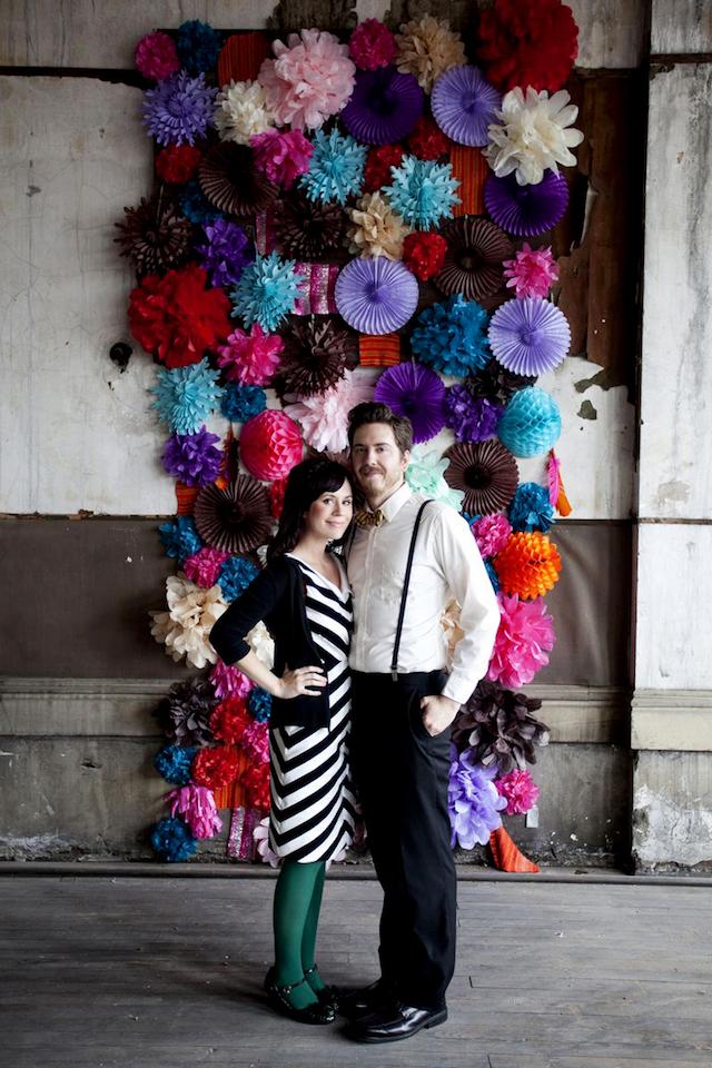 DIY flower wall wedding backdrop