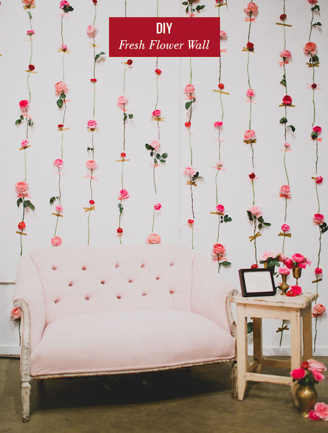 DIY fresh flower backdrop