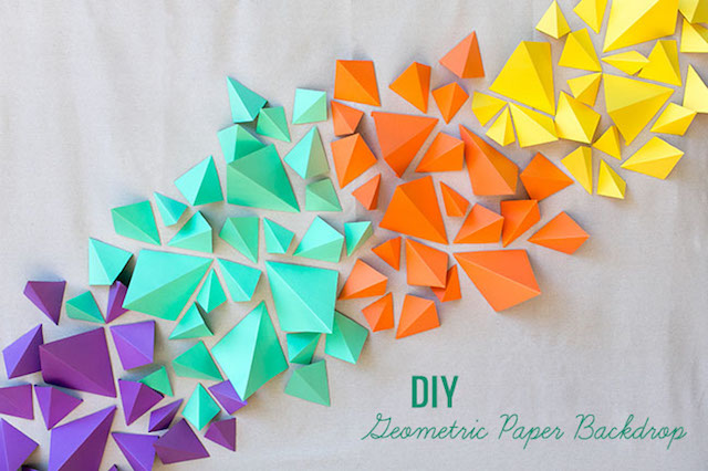 DIY geometric backdrop