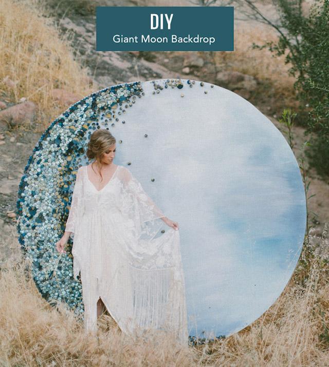 DIY giant moon photo backdrop