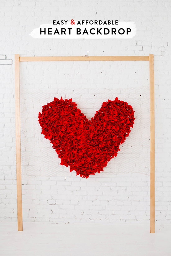 DIY giant heart backdrop