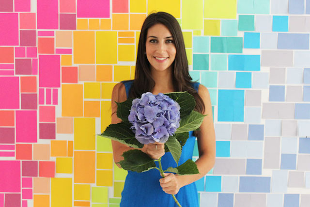 DIY Post It Notes backdrop