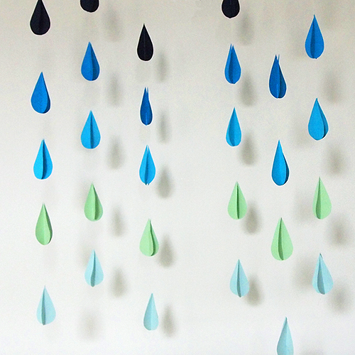 DIY raindrop photo backdrop