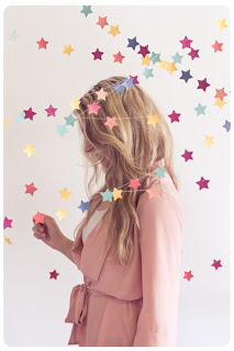DIY star garlands backdrop