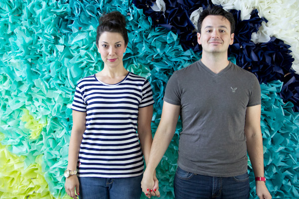 DIY tissue paper backdrop