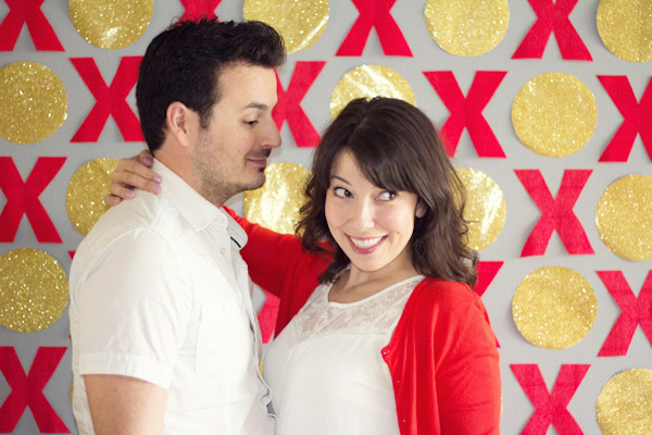 DIY Valentine's Day photo booth backdrop