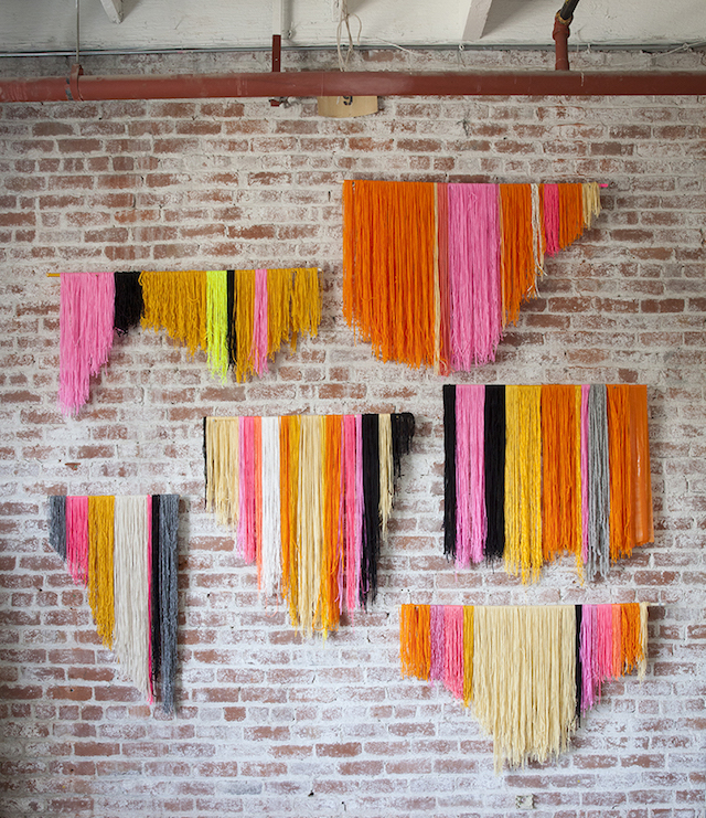 DIY yarn banner backdrop