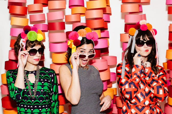 Floating circle photo booth backdrop