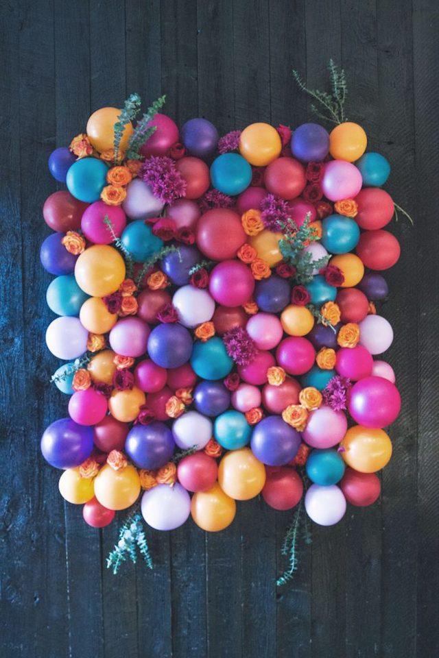 Floral balloon backdrop