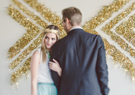 Gold confetti backdrop
