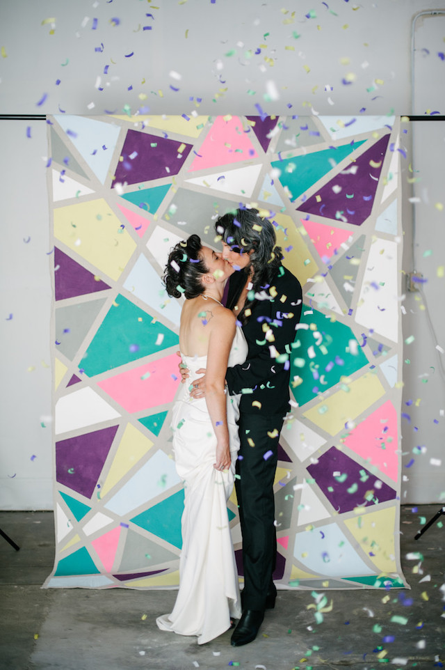 No sew wedding backdrop