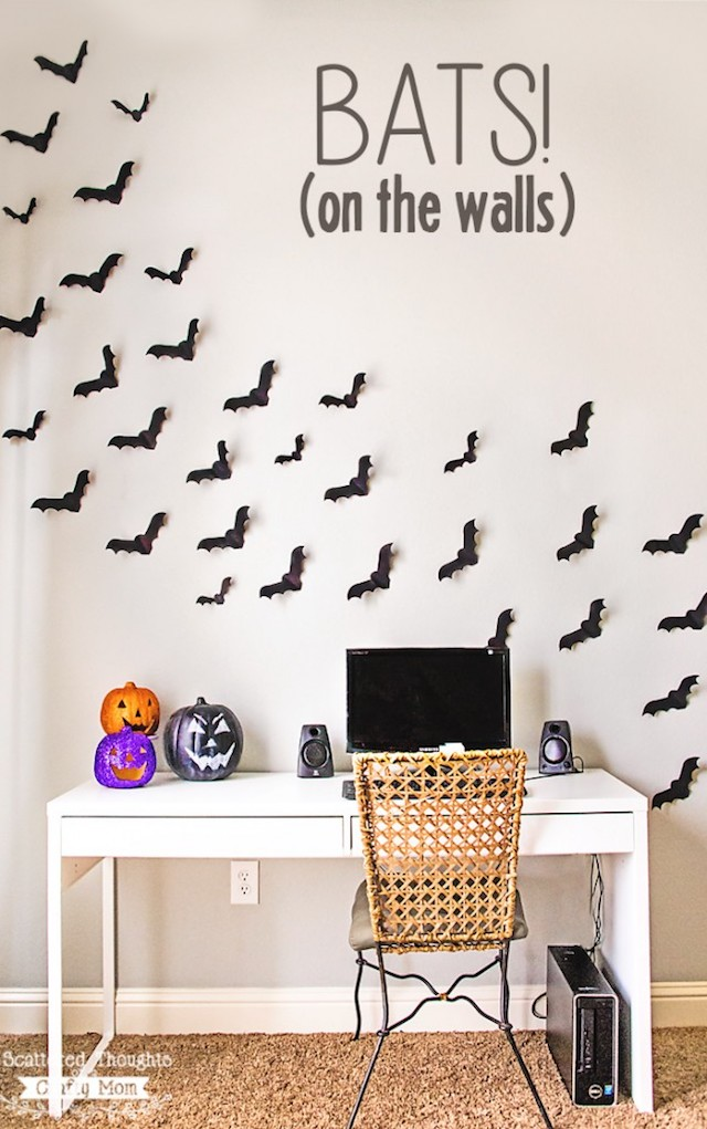 Paper bats photo booth backdrop