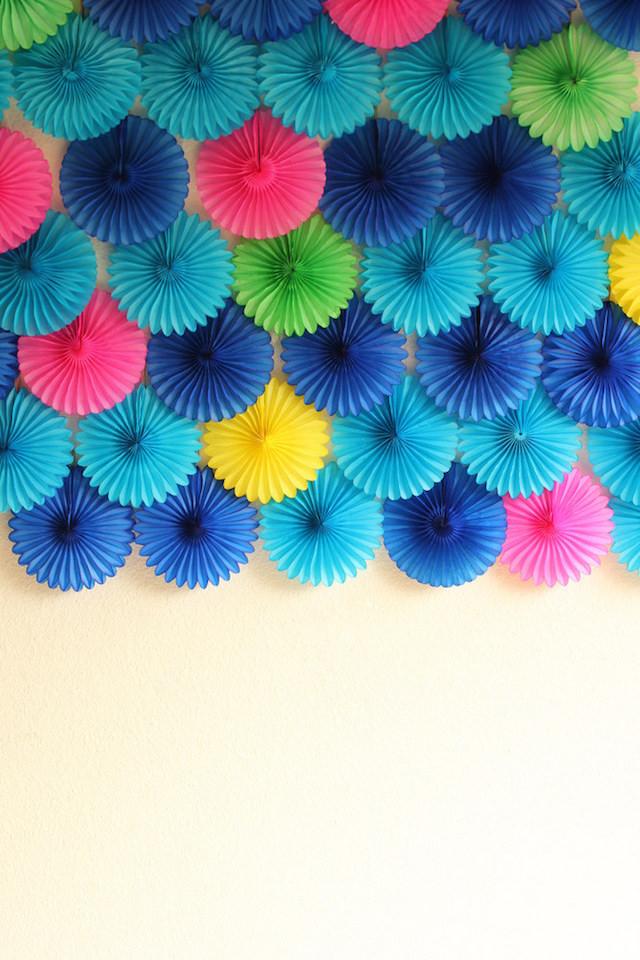Paper fan backdrop