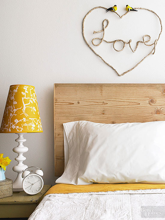 Love sign wall art made of rope